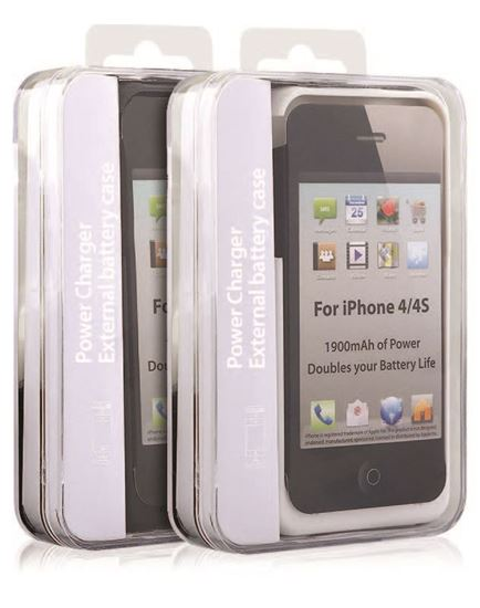Picture of iPhone 4/4S 1900 mAh Power Case White